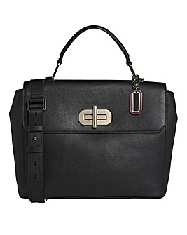 Tommy Hilfiger Elevated Leather Satchel