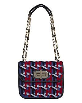 Tommy Hilfiger Leather Turnlock Bag