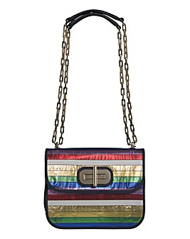 Tommy Hilfiger Leather Rainbow Bag