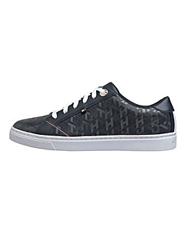 Tommy Hilfiger Jacquard Leather Lace Up Leisure Shoes Standard D Fit