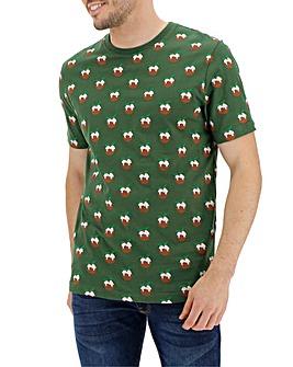 Christmas Pudding T-Shirt Long