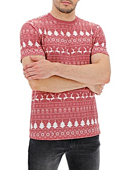Ombre Fairisle T-Shirt Long