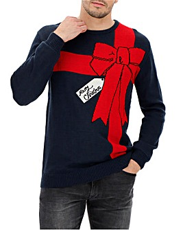 Christmas Bow Jumper Long