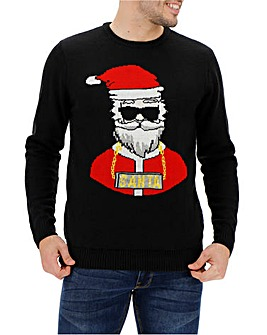 Santa Light Up Jumper Long