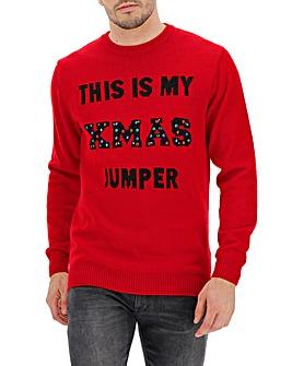 Red Christmas Light Up Jumper Long