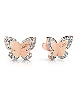 Guess Love Butterfly Earrings