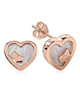 Radley Heart Scotty Logo Earrings