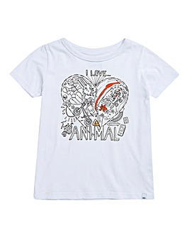 Animal Girls White Crayon T-Shirt