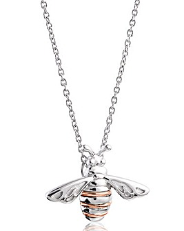 Clogau Sterling Silver & Rose-gold Gold Honey Bee Pendant