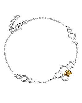 Sterling Silver Honeycomb Bracelet