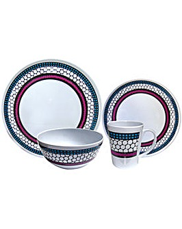 Honeycomb 16Pc Melamine Set