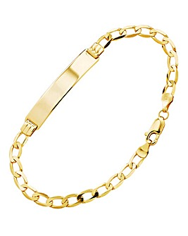 9 Carat Gold ID Bracelet