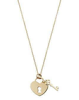 9 Carat Yellow Gold Heart Pendant