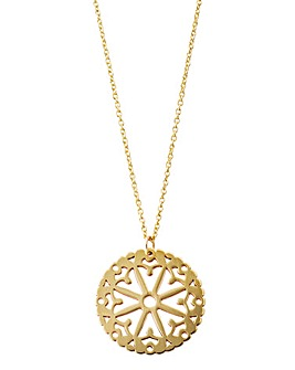 9 Carat Yellow Gold Cut out Pendant