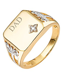 Gold-plated Silver Signet Ring