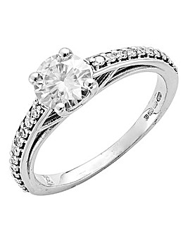 9 Carat Gold Moissanite Solitaire Ring