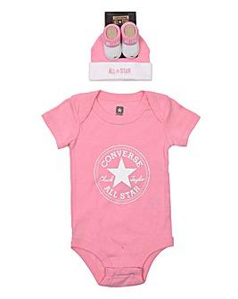 Converse Baby Bodysuit 3 Piece Gift Set