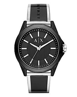 Armani Exchange Mens Resin Strap Watch