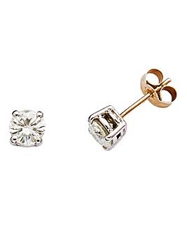 9 Carat Gold Moissanite Earrings