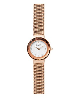 Skagen Leonora Facet Mesh Watch