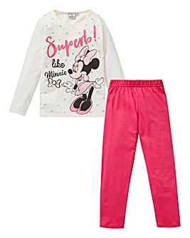 Minnie Mouse Girls Long Sleeve Pyjamas