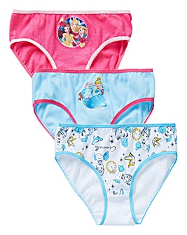 Disney Princess Girls Pack of 3 Briefs