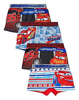Cars Boys Pack of Four Boxers