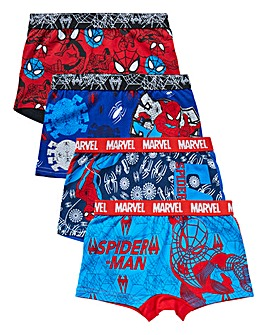 Spiderman Boys Pack of Four Boxers