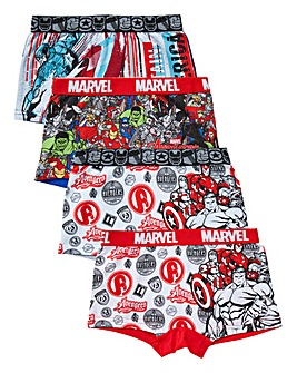 Avengers Boys Pack of Four Boxers