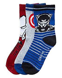 Avengers Boys Pack of Three Socks
