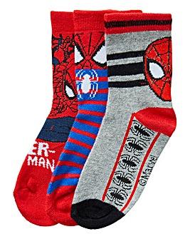 Spiderman Boys Pack of Three Socks