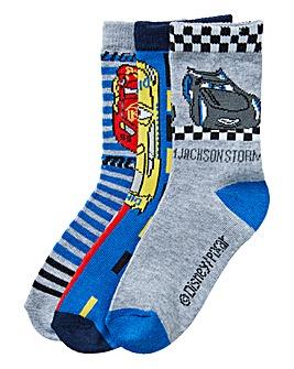 Cars Boys Pack of Three Socks