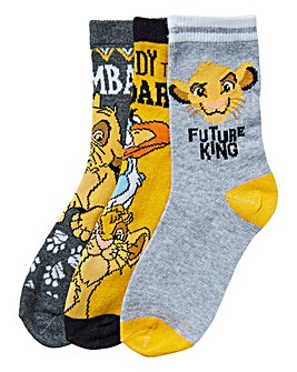 Lion King Boys Pack of Three Socks