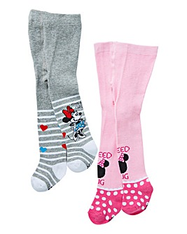Minnie Mouse Baby Girls Pack of 2 Tights
