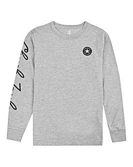 Converse Boys Grey Chuck L/S T-Shirt