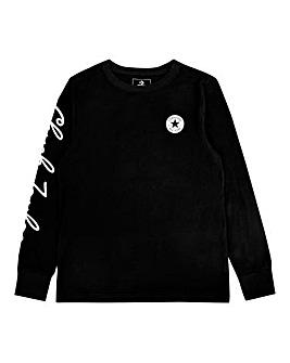 Converse Boys Black Chuck L/S T-Shirt