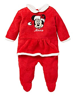Minnie Mouse Girls Christmas Sleepsuit