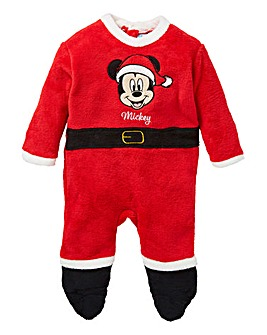 Mickey Mouse Boys Christmas Sleepsuit
