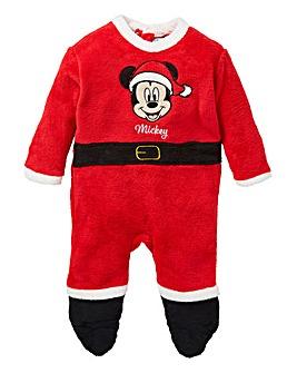 Mickey Mouse Boys Christmas Sleepsuit