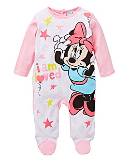 Minnie Mouse Girls Sleepsuit