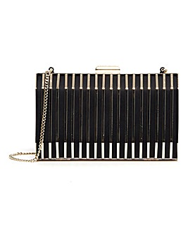 Karen Millen Kelsi Black Clutch Bag