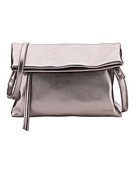 Oasis Metallic Foldover Shoulder Clutch