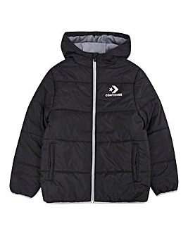 Converse Boys Wordmark Quilted Jacket