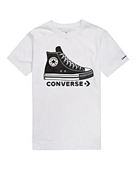Converse Boys White Sneaker Tee