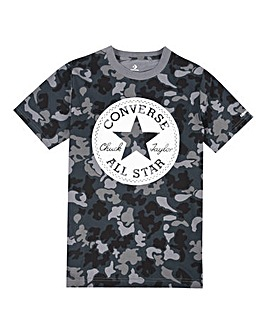 Converse Boys Black Chuck Patch Camo Tee