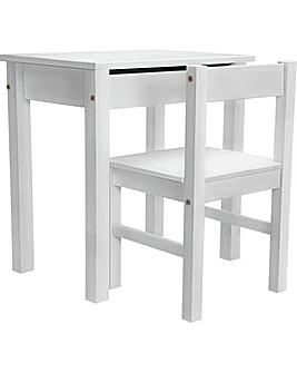 Scandinavia Desk & Chair - White