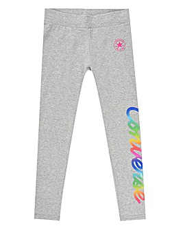 Converse Girls Grey Script Leggings