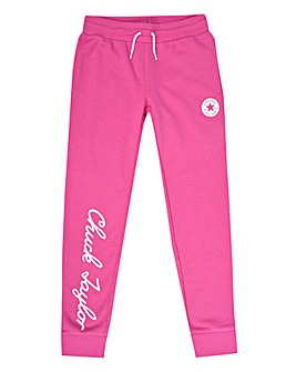 Converse Girls Pink Chuck Jog Bottoms