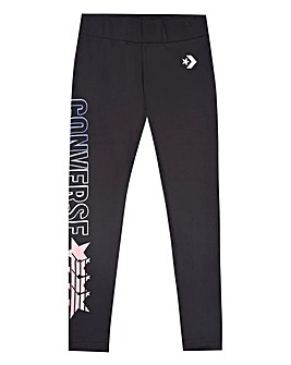 Converse Girls Black Gradient Leggings