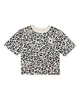 Converse Girls Leopard Print T-Shirt
